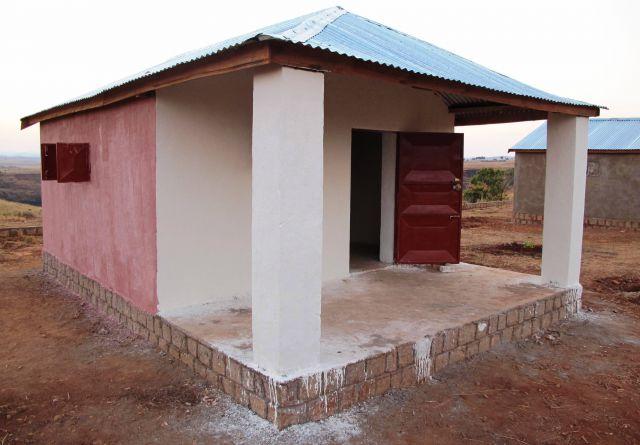 Construcción de las casitas.