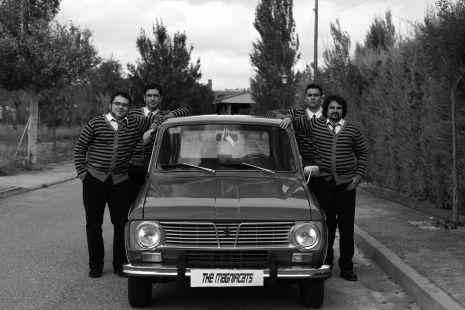 Un coche clásico para unos rockeros clásicos