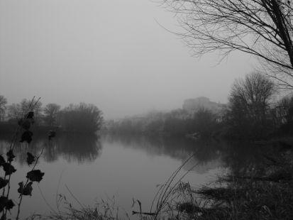 Niebla rio Duero y Tordesillas.