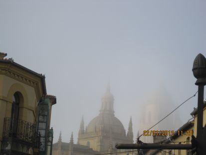 Niebla en Segovia