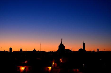 Anochece en Tordesillas...