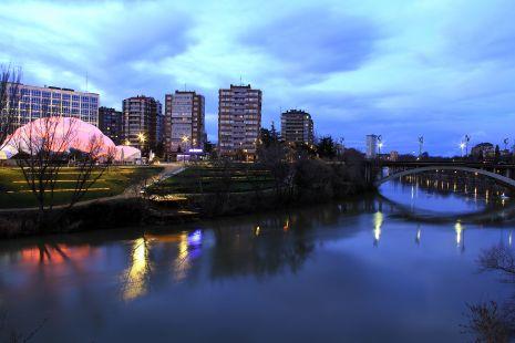 Anochecer en Valladolid