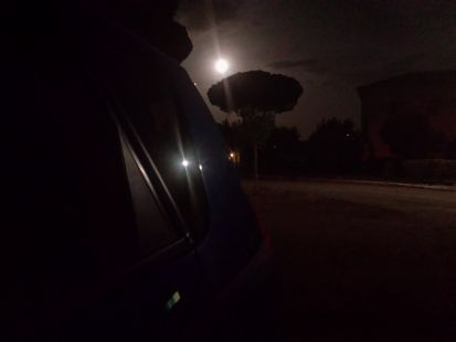 Sombra en la noche