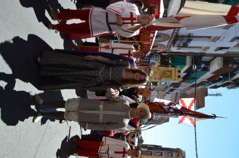 Llegada de Isabel al mercado de Medina