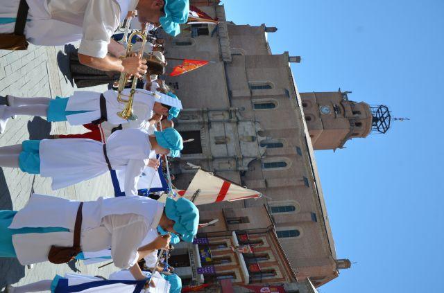 Recibimiento en la plaza de Medina del Campo